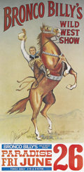 "Movie Posters:Adventure, Bronco Billy (Warner Brothers, 1980). Poster (19.5"" X 39.5""). Thisis a rare movie poster as it was produced as a promotiona..."