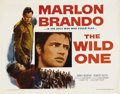 "Movie Posters:Drama, The Wild One (Columbia, 1953). Half Sheet (22"" X 28""). Marlon Brando was the natural choice to play the renegade leader of a..."