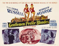 "Movie Posters:Musical, Gentlemen Prefer Blondes (20th Century Fox, 1953). Title Lobby Card (11"" X 14""). ""Two Little Girls from Little Rock,"" Jane R..."