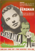"Movie Posters:Drama, Casablanca (Warner Brothers, R-Late 1940s). Swedish One Sheet(27.5"" X 39.5""). This re-release poster features Gosta Aberg g..."