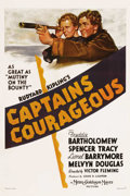 "Movie Posters:Adventure, Captains Courageous (MGM, 1937). One Sheet (27"" X 41""). Style C.This film, based on Rudyard Kipling's classic novel, stars ..."