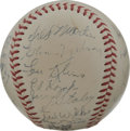 Autographs:Baseballs, 1949 St. Louis Cardinals Team Signed Baseball. Exceptional example of a team signed baseball from the '49 Red Birds is made...