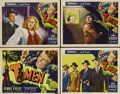 """Movie Posters:Film Noir, T-Men (Reliance Pictures, 1947). Title Lobby Card (11"""" X 14"""") andLobby Cards (3) (11"""" X 14""""). Dennis O'Keefe stars as a tre...(Total: 4 Item)"""