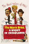 """Movie Posters:Comedy, A Night in Casablanca (United Artists, 1946). One Sheet (27"""" X41""""). After making """"The Big Store"""" for MGM, the Marx Brothers..."""