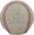Autographs:Baseballs, 1972 St. Louis Cardinals Team Signed Baseball. With Hall of FamerRed Schoendienst at the helm as skipper, the '72 St. Loui...