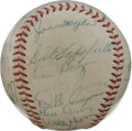 Autographs:Baseballs, 1958 St. Louis Cardinals Team Signed Baseball. Twenty-eight membersof the 1958 St. Louis Cardinals have checked in on the s...
