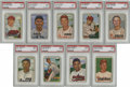 Baseball Cards:Lots, 1951 Bowman Baseball PSA NM 7 Group Lot of 9. Fantastic Near Mintlot here offers nine cards from the 1951 Bowman baseball ...