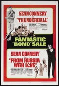 "Movie Posters:James Bond, Thunderball/From Russia With Love Combo (United Artists, 1968). OneSheet (27"" X 41""). Action. Starring Sean Connery, Claudi..."
