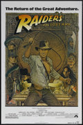 """Movie Posters:Adventure, Raiders of the Lost Ark (Paramount, R-1982). One Sheet (27"""" X 41"""").Adventure. Starring Harrison Ford, Karen Allen, Paul Fre..."""
