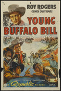 """Movie Posters:Western, Young Buffalo Bill (Republic, 1940). One Sheet (27"""" X 41"""").Western. Starring Roy Rogers, George 'Gabby' Hayes, Hugh Sothern..."""