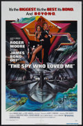 """Movie Posters:James Bond, The Spy Who Loved Me (United Artists, 1977). One Sheet (27"""" X 41""""). James Bond Action. Starring Roger Moore, Barbara Bach, C..."""