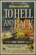"Movie Posters:War, To Hell and Back (Universal, 1955). One Sheet (27"" X 41""). WarBiography. Starring Audie Murphy, Marshall Thompson, Charles ..."