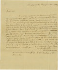 Autographs:U.S. Presidents, James Monroe Historic Autograph Letter Signed: Appointed by Federalist President George Washington to be U.S. Minister to Fr...