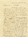 Autographs:U.S. Presidents, James K. Polk Superb Campaign Autograph Letter Signed: During his presidential campaign, the Democratic nominee directs the ...