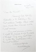 Autographs:U.S. Presidents, Herbert Hoover Superb Autograph Letter Signed: In 1940, the formerPresident handwrites a letter to be sold for the benefit ...
