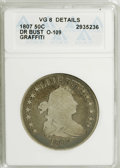 Early Half Dollars: , 1807 50C Draped Bust--Graffiti--ANACS. VG8 Details. O-109. NGCCensus: (33/1059). PCGS Population (11/740). Mintage: 301,07...