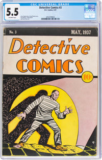 Detective Comics #3 (DC, 1937) CGC FN- 5.5 Off-white pages