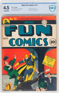 More Fun Comics #73 (DC, 1941) CBCS VG+ 4.5 Cream to off-white pages