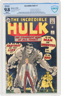 The Incredible Hulk #1 (Marvel, 1962) CBCS Restored (Extensive Professional) NM/MT 9.8 White pages