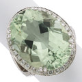 Estate Jewelry:Rings, Prasiolite Quartz, Diamond, White Gold Ring . ...