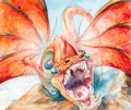 Original Comic Art:Illustrations, Omar Rayyan - Dragon Illustration Original Art (Studio Rayyan, 1997)....