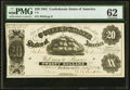 Confederate Notes:1861 Issues, T9 $20 1861 PF-12 Cr. 31 PMG Uncirculated 62.. ...