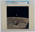 """Explorers:Space Exploration, Apollo 11: Original NASA """"Red Number"""" Color Photo of the Lunar Module Preparing to Dock with the Command Module in Lunar Orbit..."""