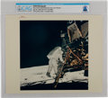 """Explorers:Space Exploration, Apollo 11: Original NASA """"Red Number"""" Color Photo of Buzz Aldrin Descending From the Lunar Module, July 20, 1969, Directly Fro..."""