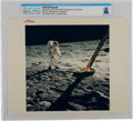 """Explorers:Space Exploration, Apollo 11: Original NASA """"Red Number"""" Color Photo of Buzz Aldrin on the Lunar Surface and the Lunar Module Leg, July 20, 1969,..."""