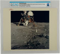 "Explorers:Space Exploration, Apollo 11: Original NASA ""Red Number"" Color Photo of Buzz Aldrin Deploying the Early Apollo Scientific Experiments on the Luna..."