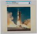 """Explorers:Space Exploration, Apollo 11: Original NASA """"Red Number"""" Color Photo of the Saturn V Liftoff, July 16, 1969, Directly From The Armstrong Family C..."""