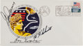 "Explorers:Space Exploration, Apollo 17 Crew-Signed Insurance ""Type"" Launch Cover...."
