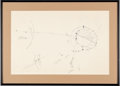 Explorers:Space Exploration, Apollo 11: Neil Armstrong Hand-Drawn and Signed Large Diagram Depicting the Flight and Landing on the Moon, with Zarelli LOA, ...