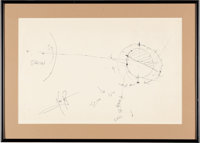 Apollo 11: Neil Armstrong Hand-Drawn and Signed Large Diagram Depicting the Flight and Landing on the Moon, with Zarelli...