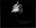 Explorers:Space Exploration, Gene Kranz Signed Apollo 13 Damaged Service Module Color Photo with Famous Quote Added....