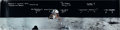 Explorers:Space Exploration, Apollo 11: Alan Bean Signed and Annotated Panoramic Lunar Surface Color Photo, with Photographic Provenance. ...