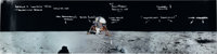Apollo 11: Alan Bean Signed and Annotated Panoramic Lunar Surface Color Photo, with Photographic Provenance