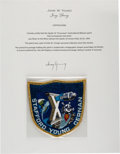 """Explorers:Space Exploration, Apollo 10 Flown Embroidered Mission Insignia """"Grumman"""" Crew Patch Directly from the John W. Young Collection, with Letter of C..."""