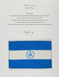 Gemini 10 Flown Flag of Nicaragua Directly from the John W. Young Collection, with Letter of Certification