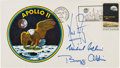 """Explorers:Space Exploration, Apollo 11 Crew-Signed """"Type Three"""" Insurance Cover with Mission Insignia Cachet, Presented by Buzz Aldrin to a Family Member...."""