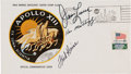"Explorers:Space Exploration, Apollo 13 Crew-Signed ""Type One"" Insurance Cover Directly from the Personal Collection of Mission Commander James Lovell, Sign..."