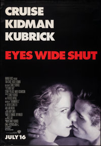"""Eyes Wide Shut (Warner Brothers, 1999). Rolled, Very Fine-. Bus Shelter (48"""" X 70"""") DS, Advance. Drama"""