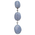 Estate Jewelry:Earrings, Chalcedony, Diamond, White Gold Pendant, Antonini. ...