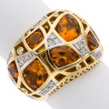 Estate Jewelry:Rings, Citrine, Diamond, Gold Ring, Ponte Vecchio Gioielli . ...