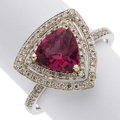 Estate Jewelry:Rings, Rubellite Tourmaline, Diamond, White Gold Ring. ...