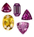 Estate Jewelry:Unmounted Gemstones, Unmounted Colored Stones. ... (Total: 5 Items)