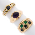 Estate Jewelry:Rings, Multi-Stone, Diamond, Gold Rings. ... (Total: 3 Items)