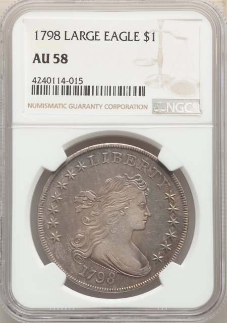 1798 S$1 Large Eagle, Pointed 9 58 NGC