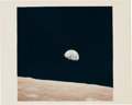 """Explorers:Space Exploration, Apollo 8 """"Earthrise"""" Original NASA Color Photo with """"A Kodak Paper"""" Watermark but No Printed Number...."""