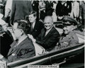 Explorers:Space Exploration, John Glenn Signed Cocoa Beach Parade Photo, Shown with President John F. Kennedy....